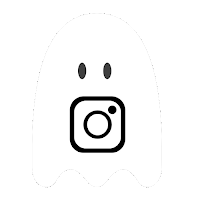 Instagram icon, ghost
